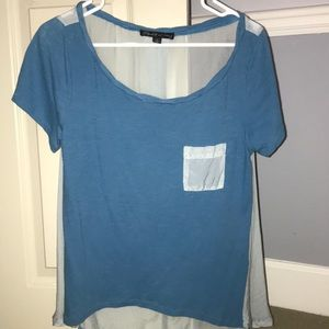 Elizabeth and James blue short sleeve top